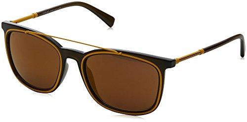 Versace Herren 0VE4335 5256F9 56 Sonnenbrille, Grün (Matte Transparent Green/Brownmirrorbronze),