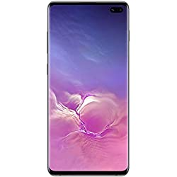 "Samsung Galaxy S10+ Smartphone, Display 6.4"", 128 GB Espandibili, RAM 8 GB, Batteria 4100 mAh, Dual SIM, Android 9 Pie, Nero (Prism Black) [Versione Italiana]"