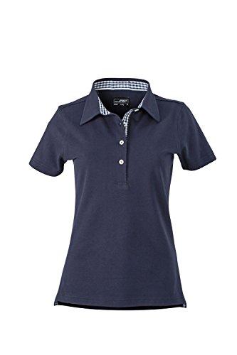 Maglia polo da donna con inserto alla moda Ladies' Plain Polo navy/navy-white