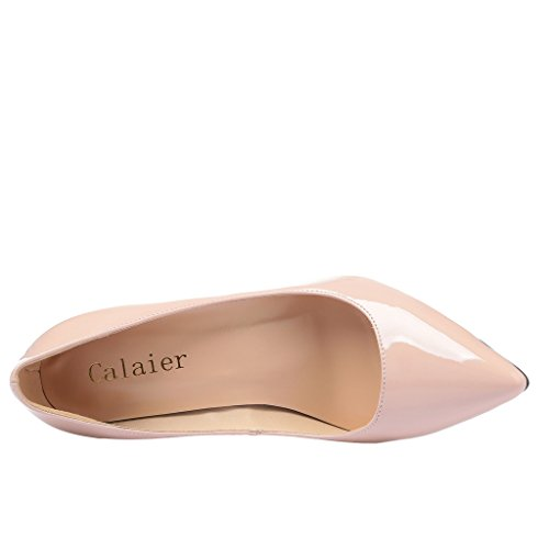 Calaier Damen Caelse 12CM Stiletto Schlüpfen Pumps Schuhe Beige