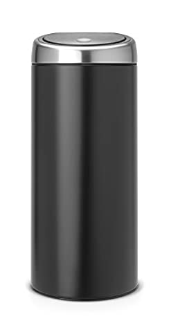 Brabantia Touch Bin, 30 L - Matte Black with Fingerprint Proof Lid