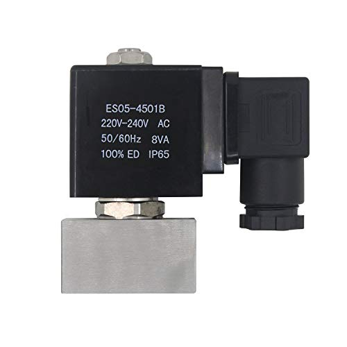 0~300 bar 1/4 zoll - magnetventil hochdruck für hochdruckreiniger - magnetventil stromlos geschlossen magnetventil edelstahl 1/4 AC 220v 24v (AC220v - Öffnungsgröße 1mm - maximaler Druck 300bar)