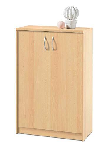 Kommode Highboard Mehrzweckschrank Burton 11 | Dekor | Buche | 2 Türen