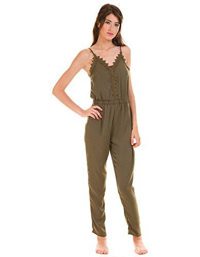 VILA CLOTHES Damen Vilany Jumpsuit, Grau (Granite Grey) - 6