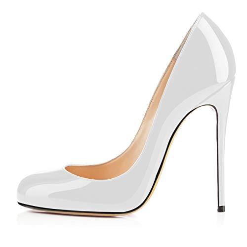 EDEFS Damen Pumps High Heels Hochzeits Schuhe Brautjungfer Pumps White Größe EU41 White High Heel-schuhe