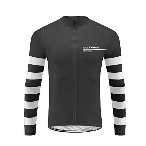 e/Trikots Winddichte Wasserdichte Lauf- Fahrradjacke MTB Mountainbike Jacket Visible Reflektierend, Fleece Warm Jacket für Winter Voller Reißverschluss ()