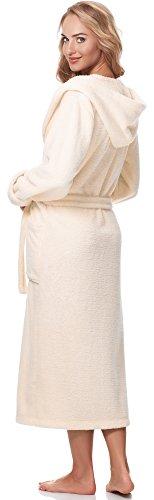 Merry Style Damen Bademantel mit Kapuze 5L1 Hellaprikose