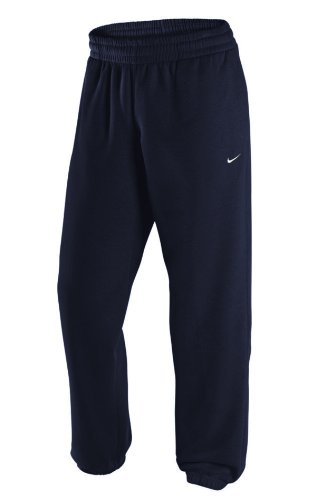 Cuff Trainingshose (Nike Herren Trainingshose Season Cuff Pants-Swoosh Dark Obsidian/White, S)
