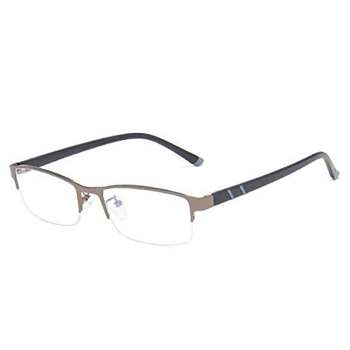 Jakiload Metall-Business-Business-Blaue Brille Quadratische Brille Ultraleichte Mode-Computer-Brille Für Frauen Männer (Color : Gun Color)