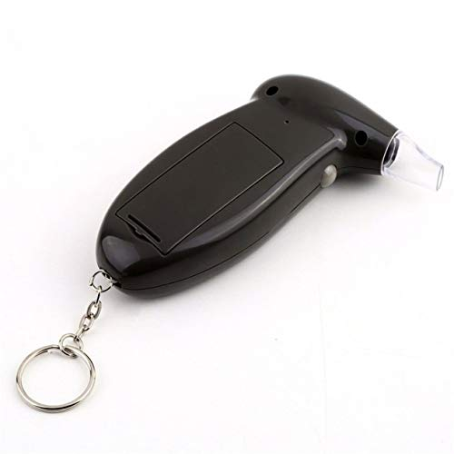 Furhead Etilometro,Tester per Alcol Ricaricabile USB Tester dellalcool DellAlta precisione con 10 Boccagli