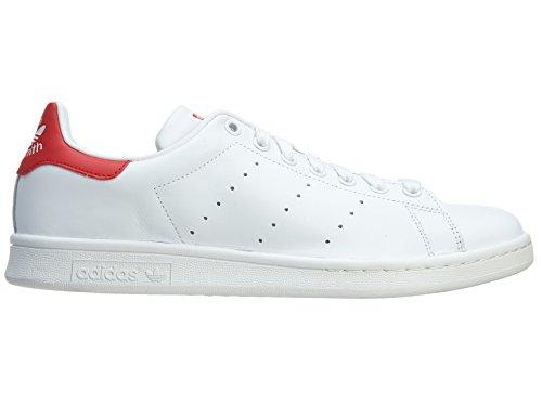 Adidas Stan Smith Herren Stil: M20326-wht / wht / red Grö�e: 9 Run White/Run White/Red