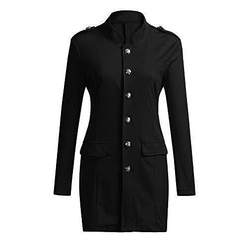 SWISSWELL Herren Slim Fit Sakko Blazer Anzug Jacke EIN-Knopf Casual 2018 Collection Männer Freizeit Anzugssakko- Etikettgröße: 3XL/EU-M, Schwarz Anzug Jacke
