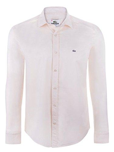Lacoste Herren Hemd Shirt Slim Fit mit Kragen Beige (44)