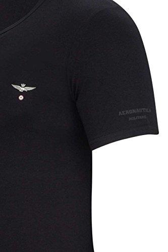 Aeronautica Militare Herren Shirt T-Shirt MATTEO MELANGE GREY2