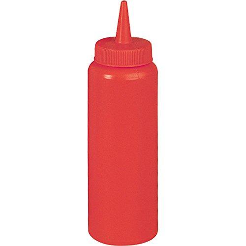 Quetschflasche Dosierflasche Soßenspender rot Ø 70 mm Höhe 240 mm 0,7 Liter aus Polyethylen nicht spülmaschinenfest