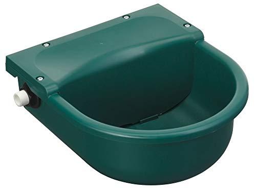 Eider Schwimmertränkebecken grün aus Kunststoff, 3 l - Maße: 29 x 25,5 x 14,5 cm - inkl. Ablaufstopfen zur leichten Reinigung