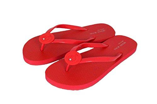 Armani jeans sandales chaussures shoe a55F4 zehensandalen claquettes Rouge - Rouge