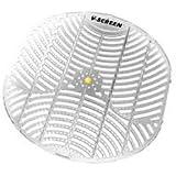 vectair sistemas bcv163-yl V urinario Protector de, amarillo, cítricos, mango transparente luz gris (Pack de 12)