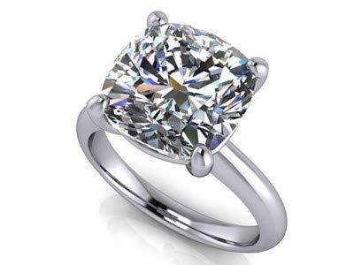 Diamant 2.00 Karat Single Solitaire Verlobungsringe 14Ct Solid Real White Gold Schmuck Größe 49 (15.6)