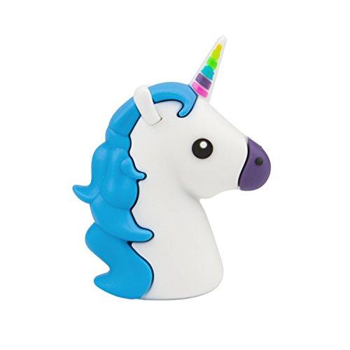 Emoji de Power Bank, ubmsa Cargador Externo en Unicorn de diseño de emoji en turquesa de color rosa para smartphones y otros aparatos con conexión USB–Incluye Micro Usb Cable De Carga