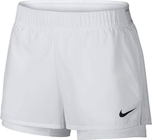 Nike Shorts Weiß (Nike Damen W NKCT FLEX Shorts, Weiß (White/Black), Gr. M)