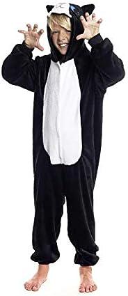H HANSEL HOME Pijama Entero Infantil niño niñas de Dibujos Animado Disfraces Animales Carnaval Halloween Cospl