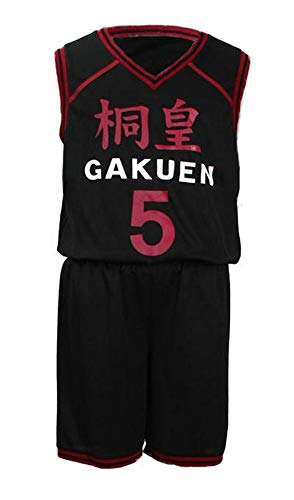Chong Seng CHIUS Cosplay Costume Jersey Set for Touou High School No. 5 Aomine Daiki (Japanese School Boy Kostüme)