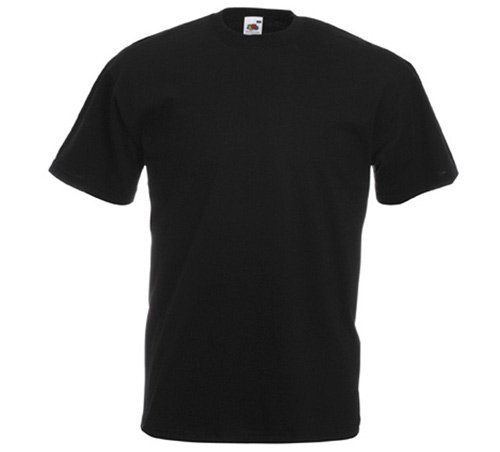Fruit of the Loom - Classic T-Shirt \'Value Weight\' XL,Black