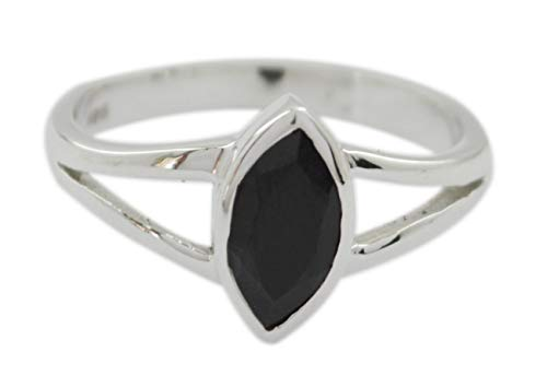 riyo in der Regel 925 Sterling Silber attraktiver natürlicher schwarzer Onyx-Ring