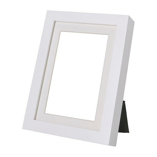 Ikea RIBBA Rahmen in weiß (21x30cm), Holz, White, 36 x 26,6 x 5,8 cm