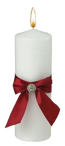 Jamie Lynn Mariage Accessoires Rouge Allure pilier Unity Bougie, Blanc