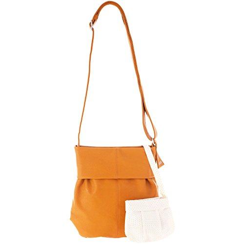 zwei Mademoiselle M10 Shopper Umhängetasche 31 cm Curry (Orange)