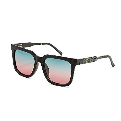 WULE-RYP Polarisierte Sonnenbrille mit UV-Schutz Retro polarisierte Sonnenbrille für Damen und Herren Superleichtes Rahmen-Fischen, das Golf fährt (Farbe : Gradient)