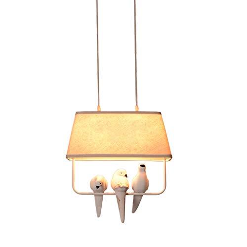 Moderne lampadari retro loft lovely birds pendant lamps lampada da tavolo in resina da cucina vintage in resina per uccelli lampadari (color : 3 head)