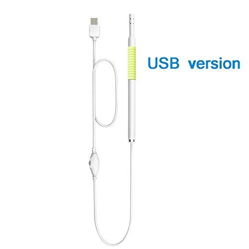 Ohrreiniger 1,3 millionen hd-Pixel 6 led-Lichter USB-schnittstelle wasserdichter visueller ohrreiniger mit ohrenschmalz-entfernungswerkzeug pc-Version/WiFi-mobilversion,Yellow,A