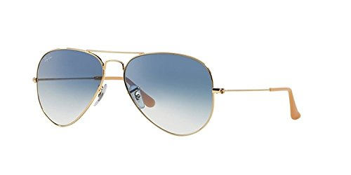 RAY-BAN RB 3025 AVIATOR SUNGLASSES (55 mm, 001/3F ARISTA CRYSTAL WHITE/GRADIENT BLUE)