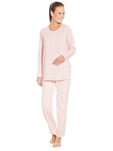 Lingerelle - Pyjama en maille, entièrement boutonné Imprime rose