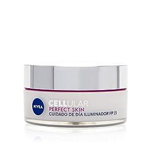 NIVEA Cellular Perfect Skin Cuidado de Día FP15 (1 x 50 ml), crema hidratante facial para dar luminosidad a la piel, crema de día iluminadora, crema antienvejecimiento