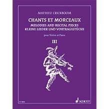 CRICKBOOM - Cantos y Melodias 3º para Violin y Piano