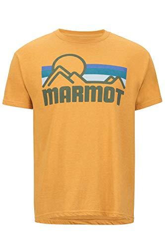 Marmot Herren Coastal Tee Short Sleeve T-Shirt Kurzarm, Funktionsshirt, Schnell Trocknend & Atmungsaktiv, Aztec Gold Heather, M - Aztec-herren Shirt