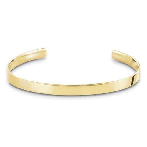 THOMAS SABO Unisex Armreif Love Cuff Armreif Love Cuff 925er Sterlingsilber; 750er Gelbgold Vergoldung AR087-413-12