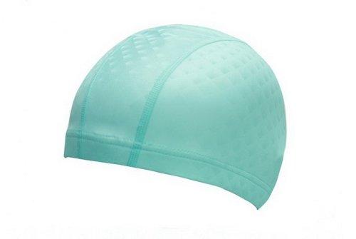 PU Bonnet de bain pour adultes souple Tissu Swim Cap, Vert