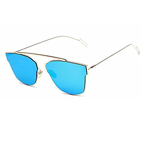MaFs Style UV Protected Light wight Silver Metal Aviator Unisex Sunglasses (Type 3)
