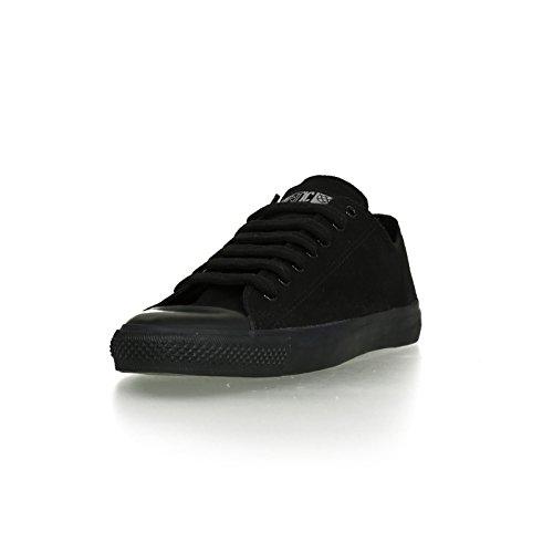 Ethletic Black Cap vegan LoCut - Farbe jet black / black aus Bio-Baumwolle Größe 41 - 2