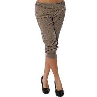 JUTOO Women Summer Elastic Waist Boho Check Pants Baggy Wide Leg Plus Size Yoga Capris(Khaki,XXXX-Large)