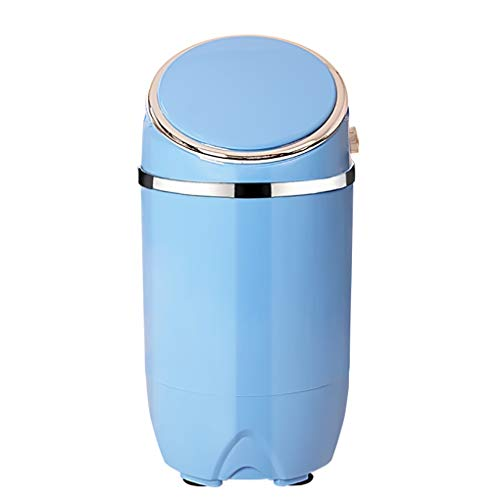 YHLZ Halbautomatische Schlaf Einrohr-Wash Socken Mini kleine Waschmaschine Haushalt Kinder Trockene und waschen 7,7 Lbs Kapazität Rotary-Controller (Color : Blue) -