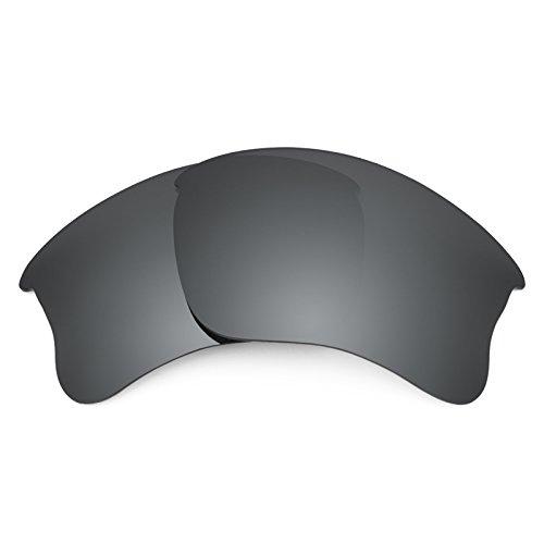 Revant Ersatzlinsen für Oakley Flak Jacket XLJ Polarisierung Elite Schwarz Chrom MirrorShield®
