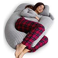 PharMeDoc Schwangerschaftskissen Mit Jersey-Bezug, U-Förmiges Ganzkörperkissen Pregnancy Pillow with Jersey Cover, U Shaped Full Body Pillow