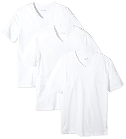 BOSS Hugo Herren T-Shirt SS VN 3P BM 10111875 01, 3er Pack, Einfarbig, Gr. X-Large, weiß (White 100)