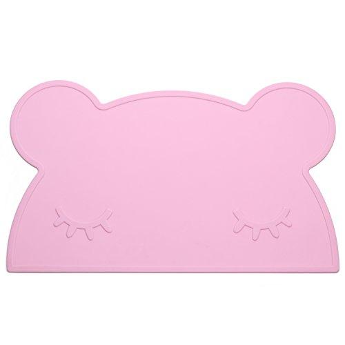 Preisvergleich Produktbild Süße Bär geformter Kinder rutschfeste tragbar Silikon Baby Tisch-Sets